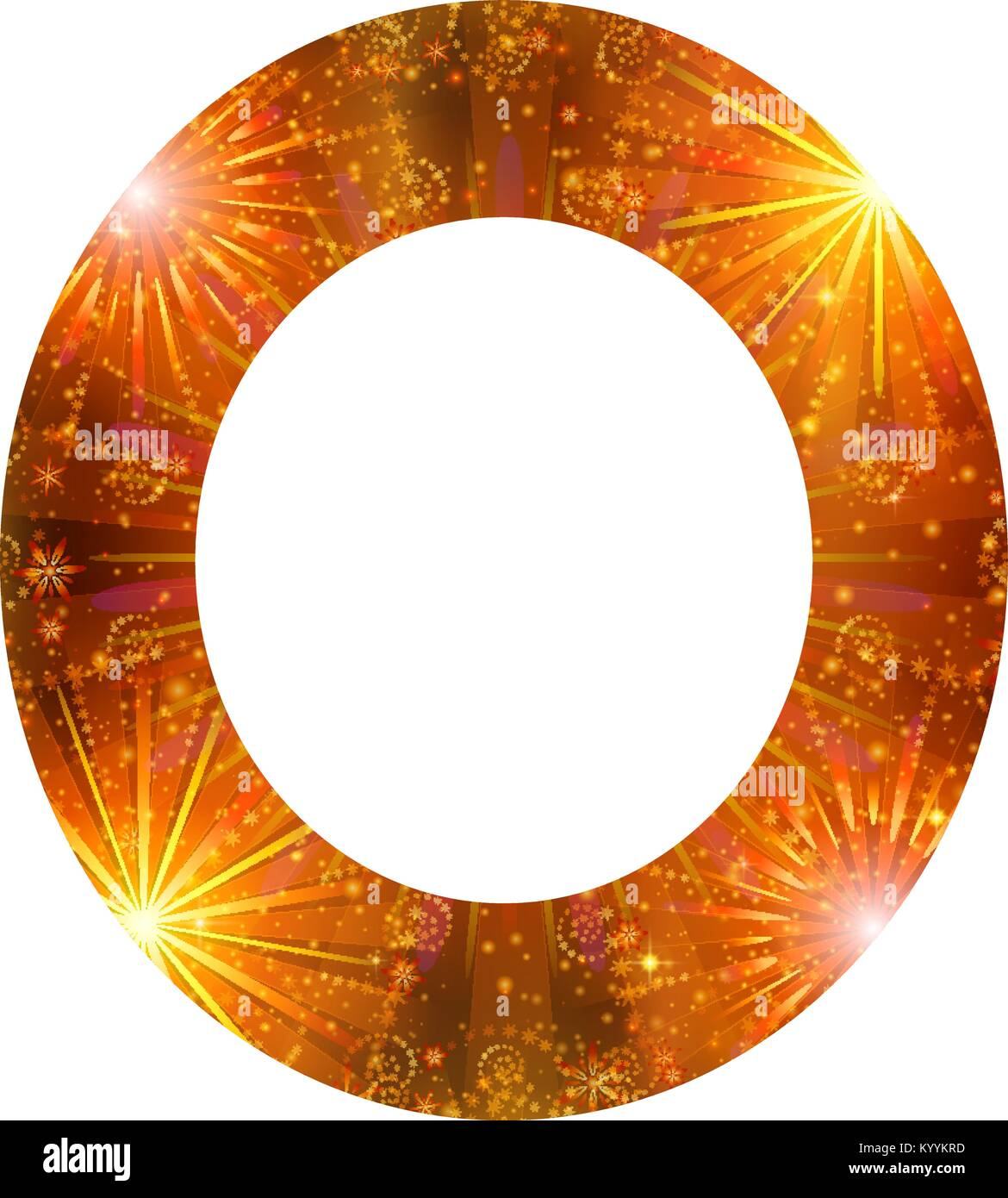 Number of orange firework, zero - Stock Image