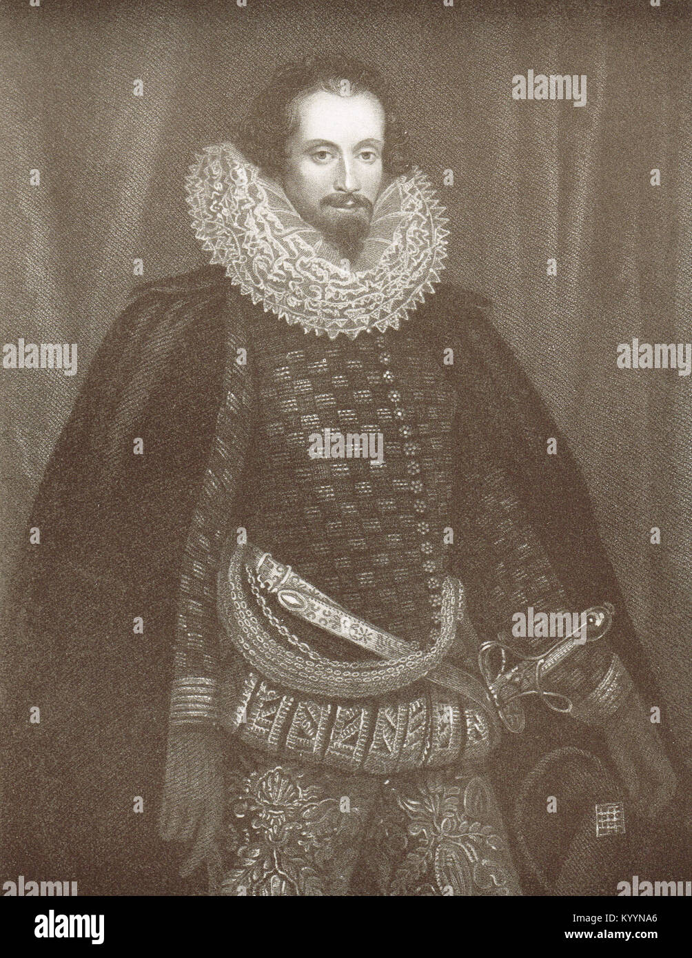 Robert Devereux, 2nd Earl of Essex - Stock Image
