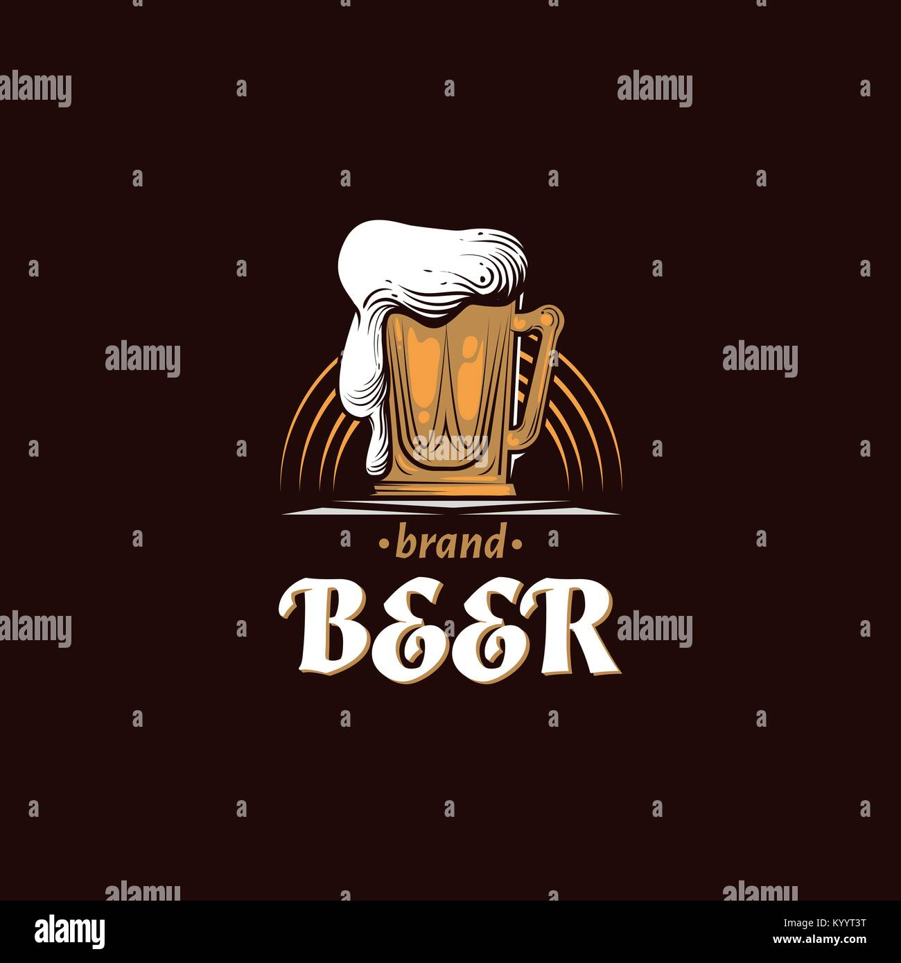 Vintage brewery Logo. Beer retro badge. Bar design template. Old pub ...
