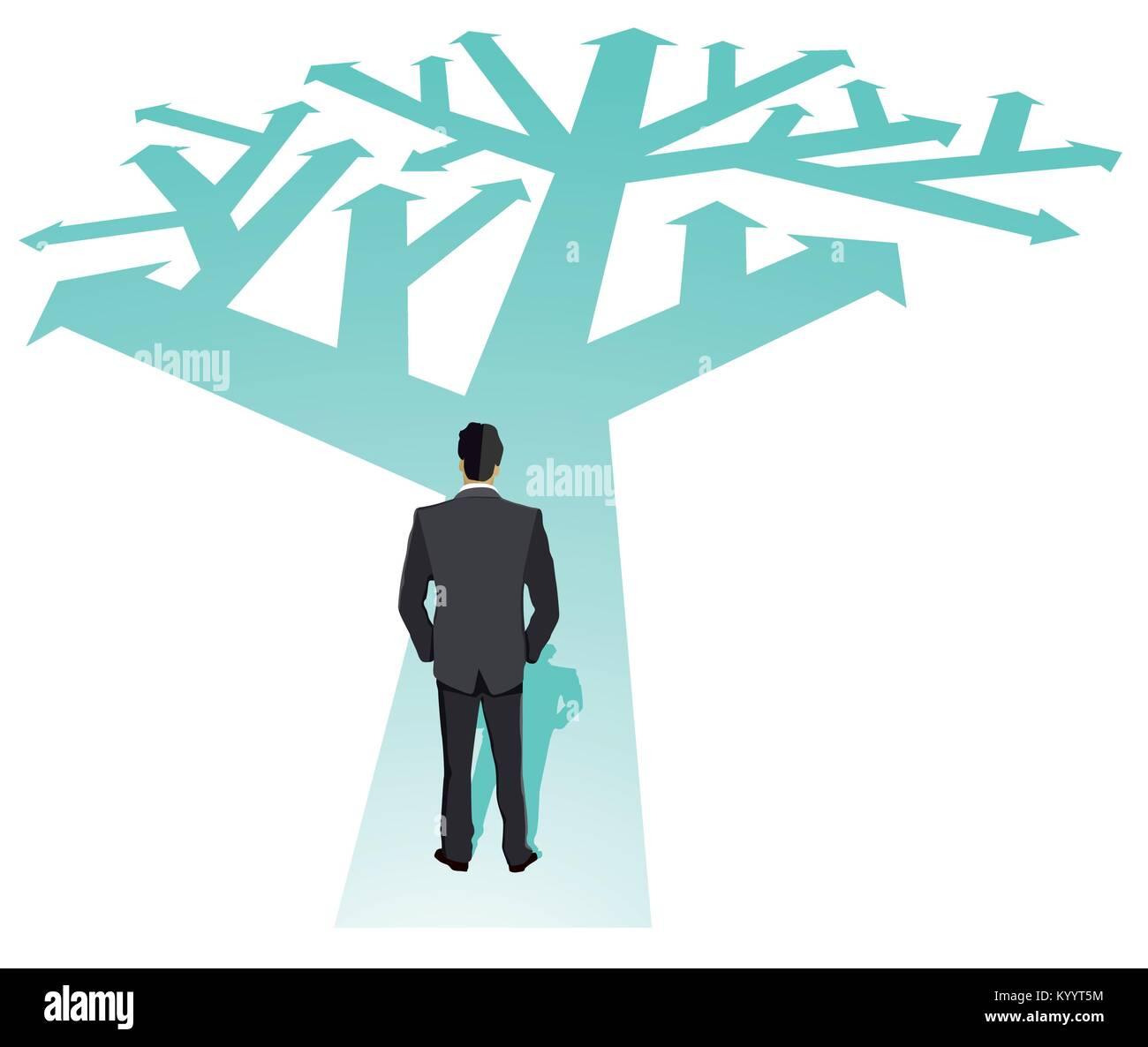 Businessman direction future illustration - Stock Vector
