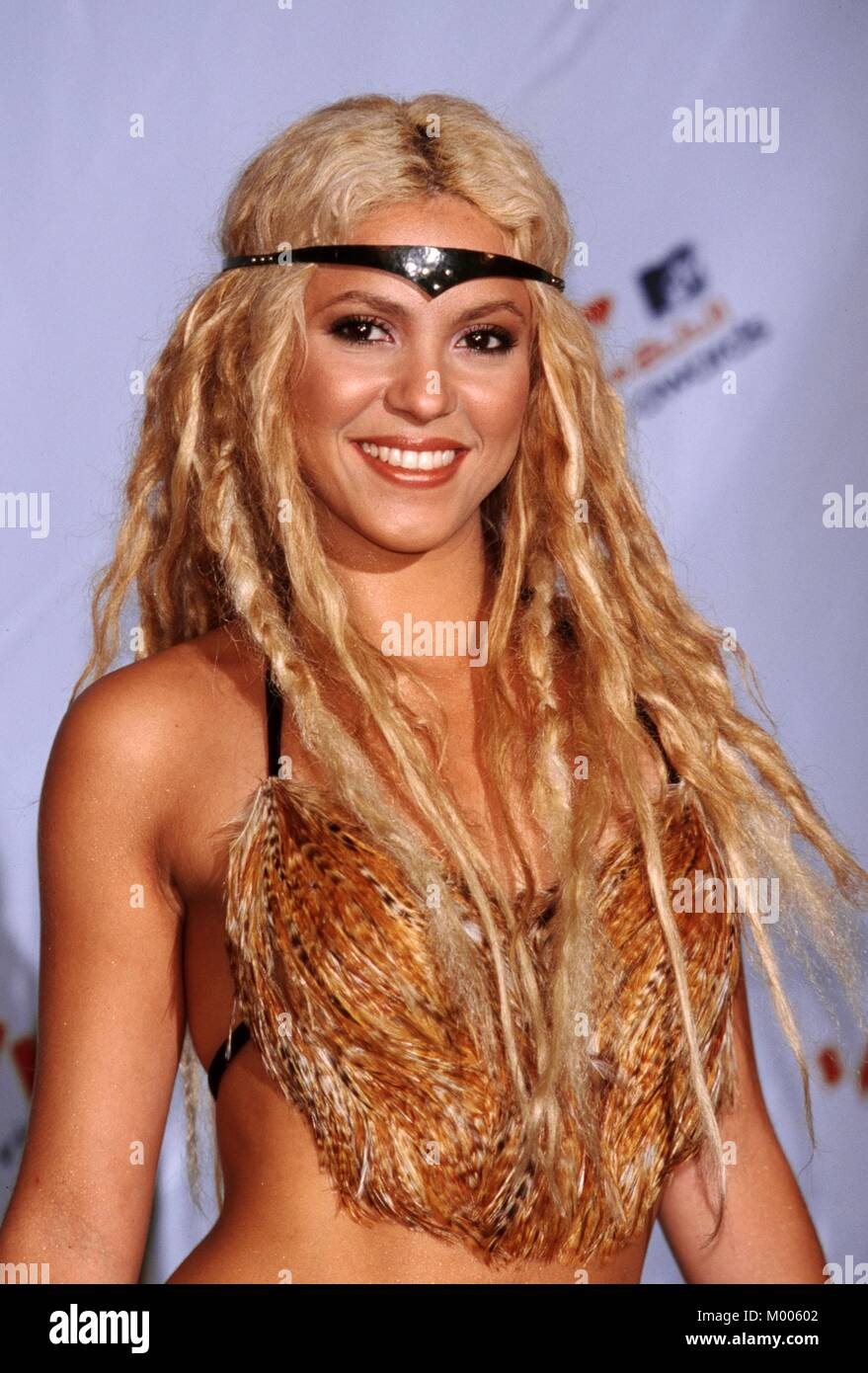 Shakira MTV 2001 Video Music Awards Metropolitan Opera House, Lincoln Center,  NYC 9/6/01 ©RTSpellman / MediaPunch Stock Photo
