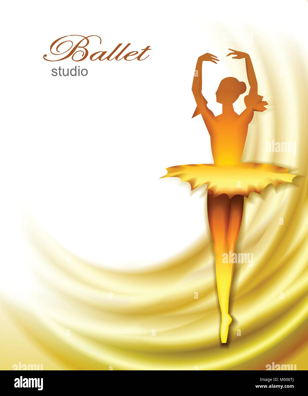 Ballet dancer background - Stock Vector