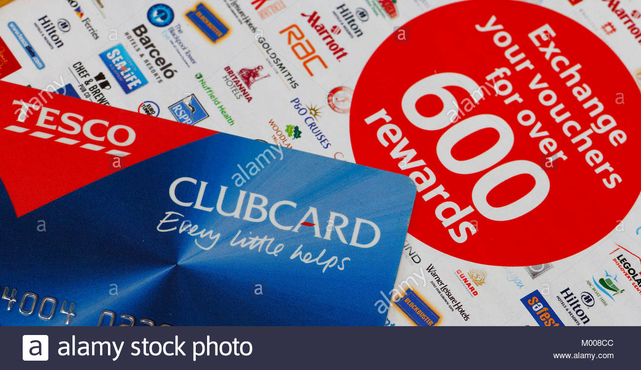 File photo dated 19/03/13 of a Tesco Clubcard, as the UK's largest retailer has said that it is delaying changes - Stock Image
