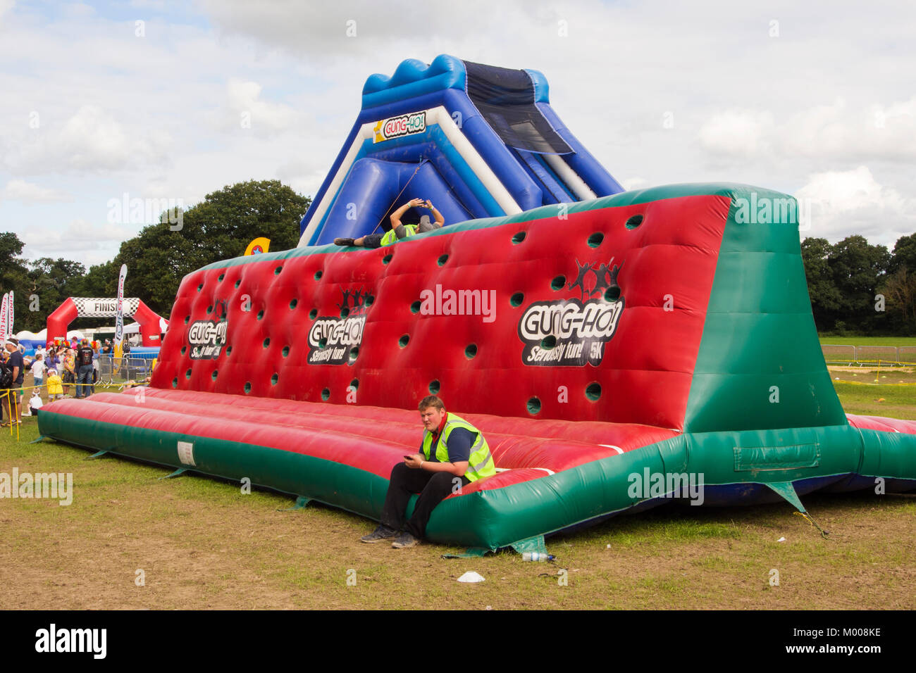 An assualt course at Carfest North in the grounds of Bolesworth Castle, Cheshire, UK. Stock Photo