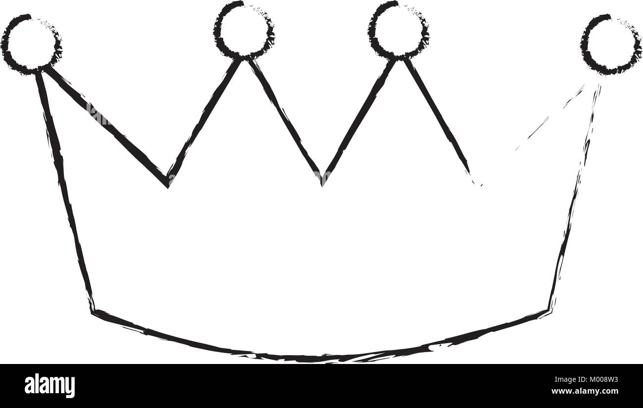 crown luxury royal monarchy icon - Stock Vector