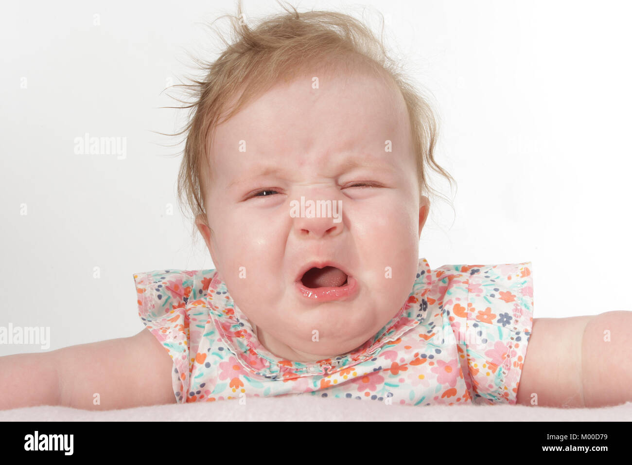 childhood, bad behaviour, temper tantrums, postnatal depression - Stock Image