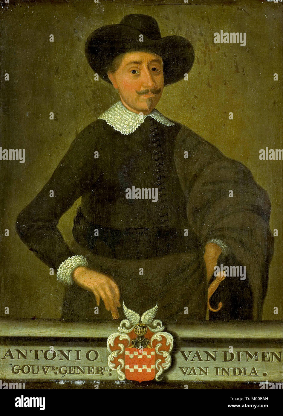 Anthony van Diemen, (1593 – 19 April 1645) Dutch colonial governor. - Stock Image