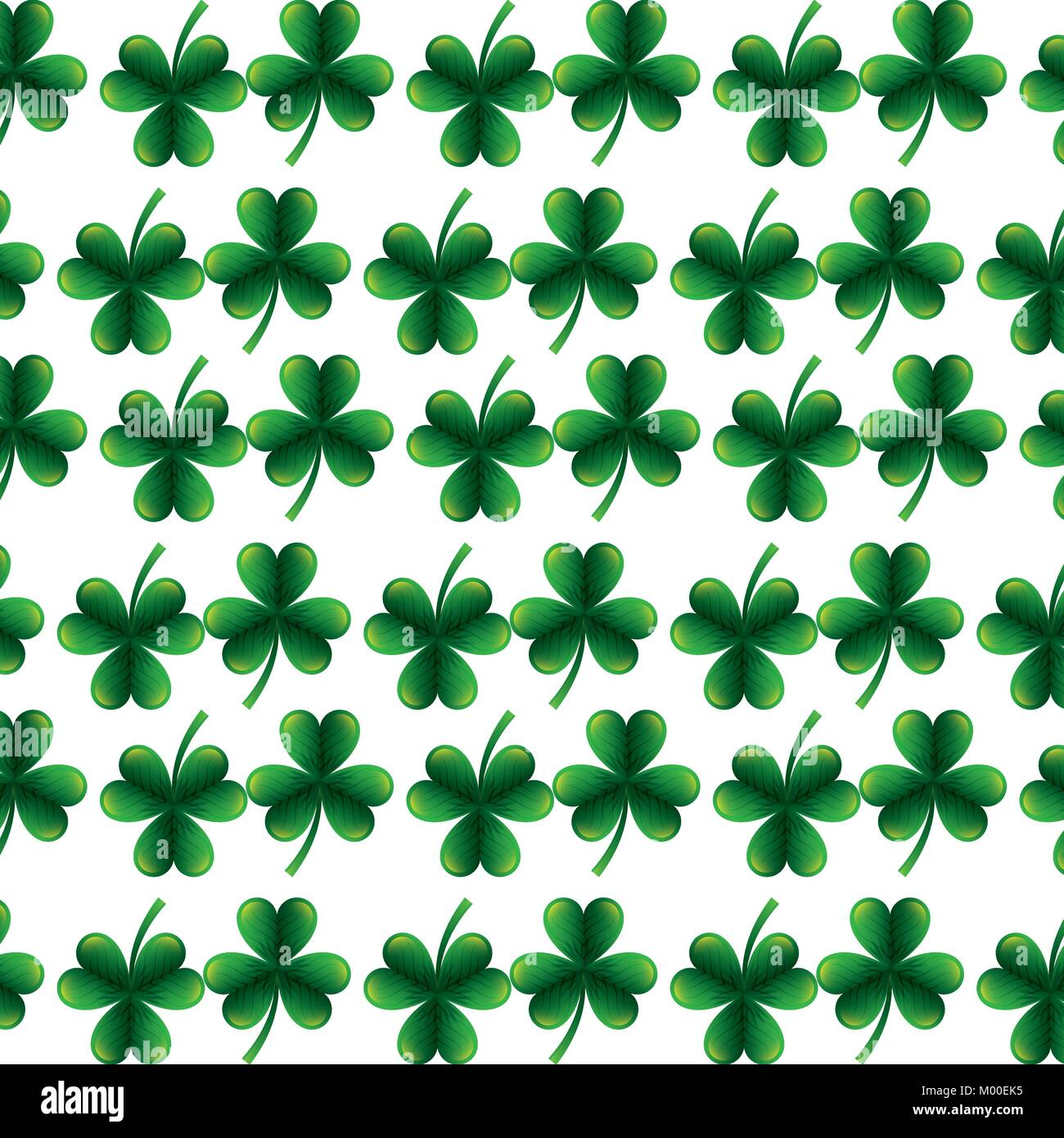 Clover Leaves Seamless Pattern St Patricks Day Background