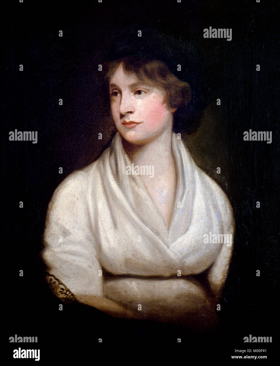 Mary Wollstonecraft (1759-1797), portrait of the writer, activist and mother of Mary Shelley. Copy by John Keenan - Stock Image