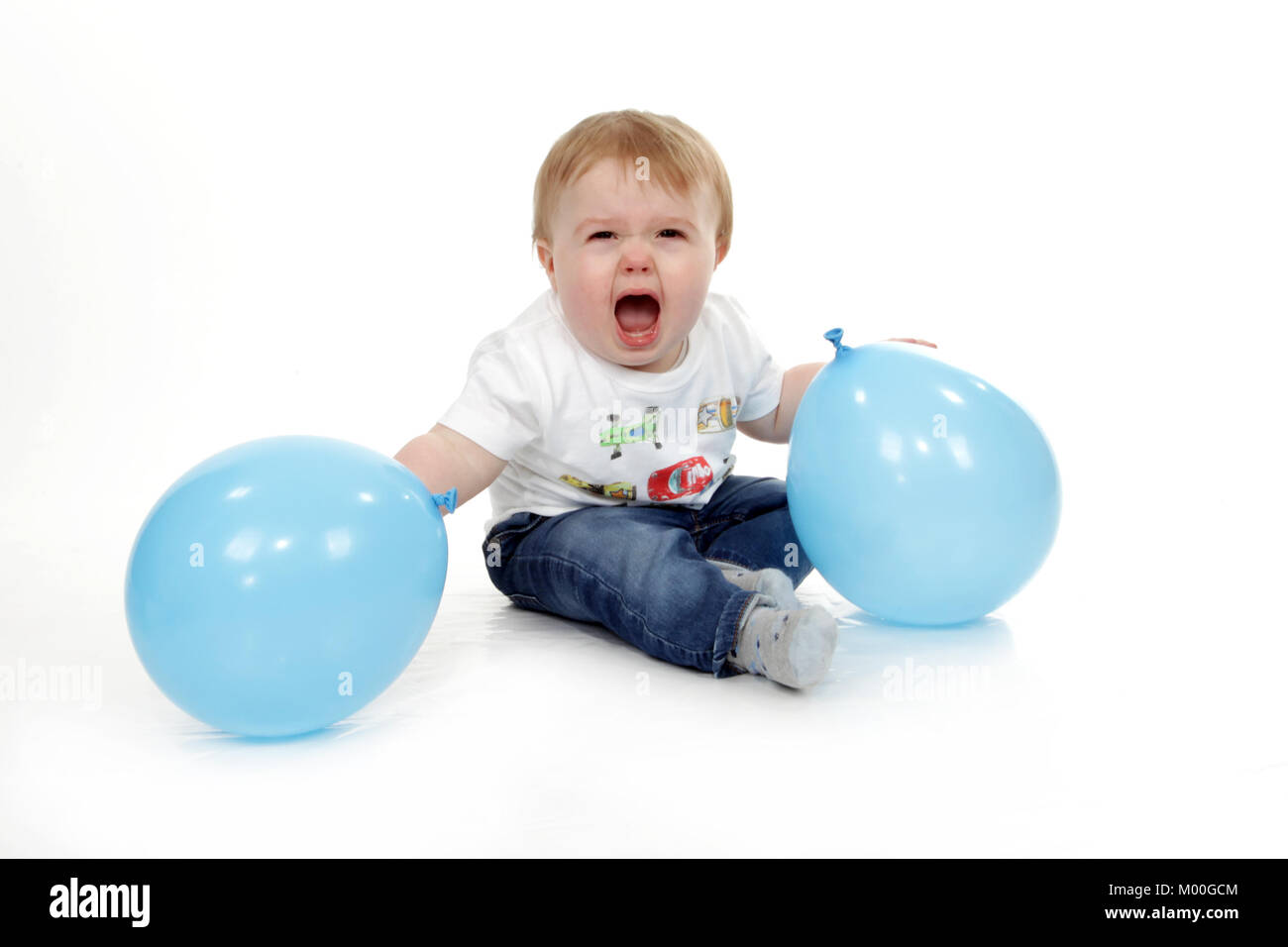 aggressive toddler, bad behaviour, temper tantrum, 1 year old boy, mental illness - Stock Image