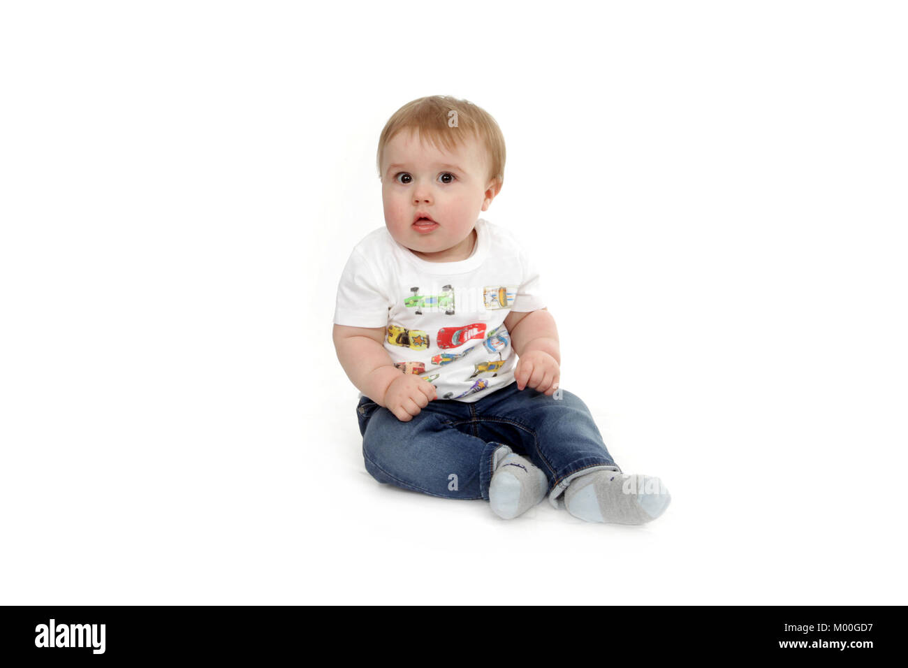 1 year old disabled child, lurning difficulty, child development - Stock Image