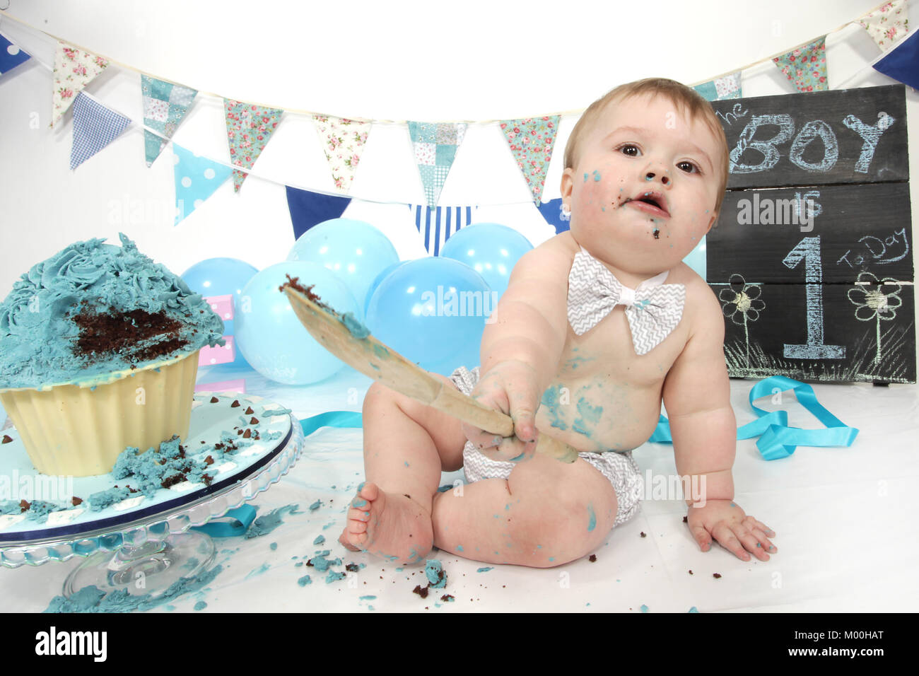 1 Year Old Boy Birthday Party Cake Smash Fun Food