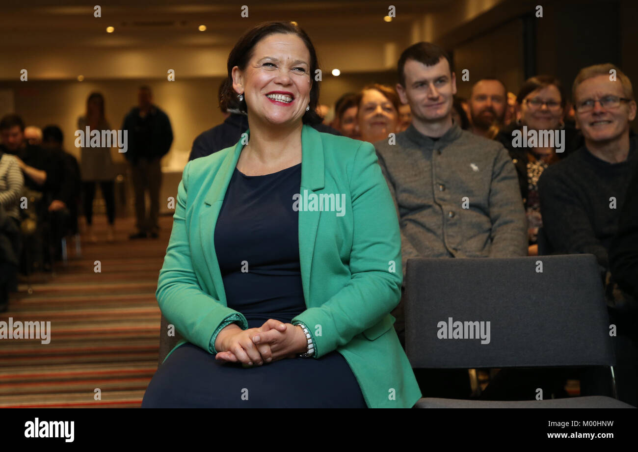 Mary Lou McDonald. Sinn Fein Vice President, Mary Lou Mc Donald, will be elected as the new leader and President - Stock Image