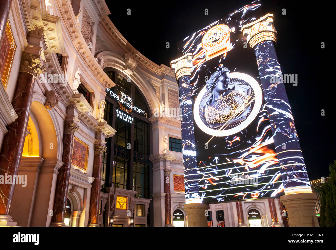 The Forum Shops at Caesars Palace in Las Vegas, Nevada. - Stock Image