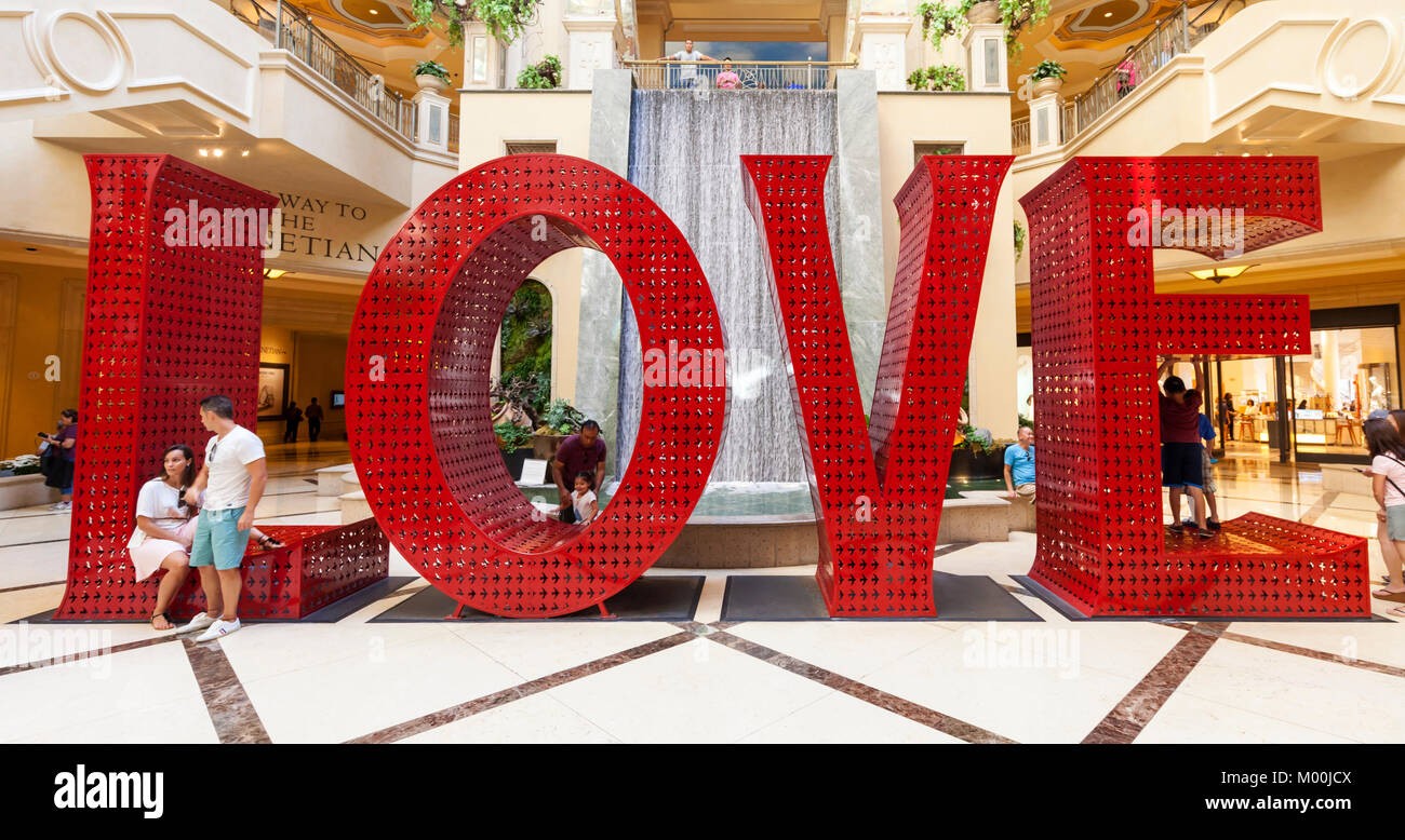 The Venetian Mall in Las Vegas, Nevada. - Stock Image