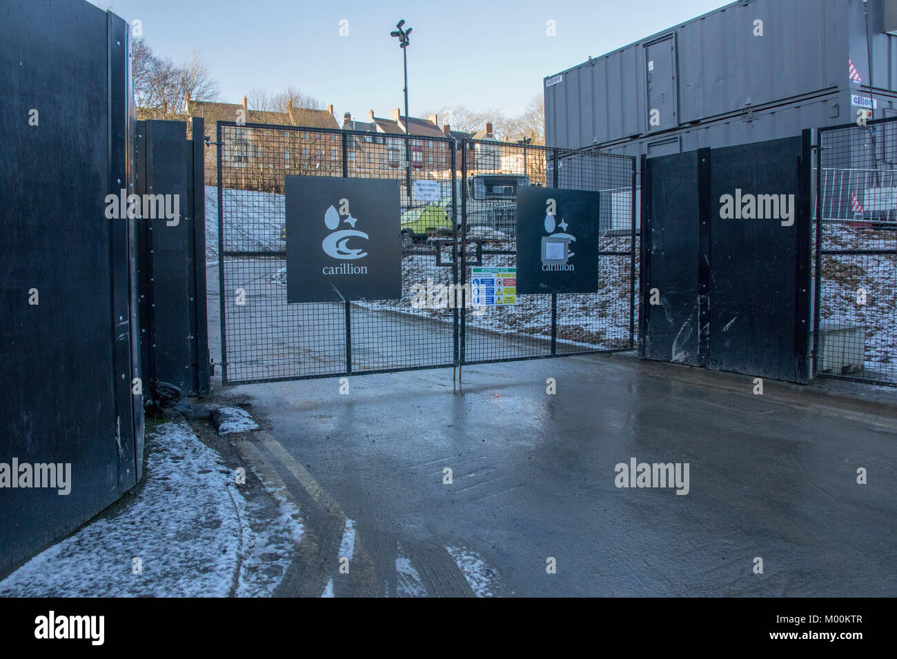Milburngate Durham City Uk 17th January 2018 Locked Gates And No