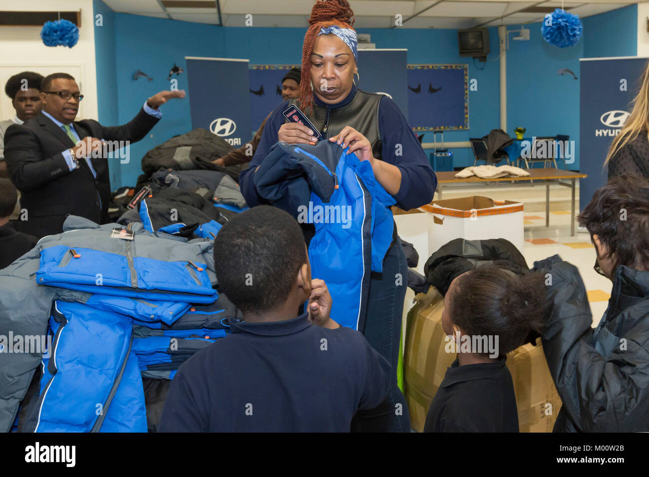 Hyundai Motor America distributed 1,000 winter coats to elementary and middle school children at Carstens Academy as part of its annual Coats for Kids ...
