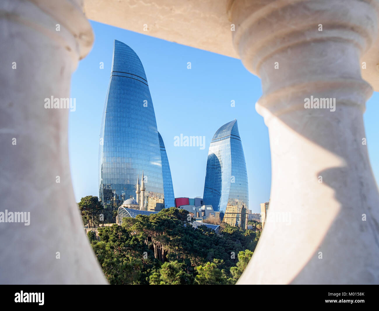 Baku Azerbaijan December 27 2017 Modern Architecture Of Baku City