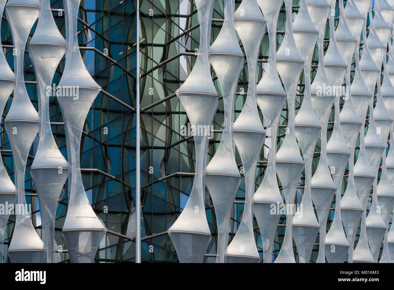 The exterior of the new US Embassy in Nine Elms, London, United Kingdom - Stock Image