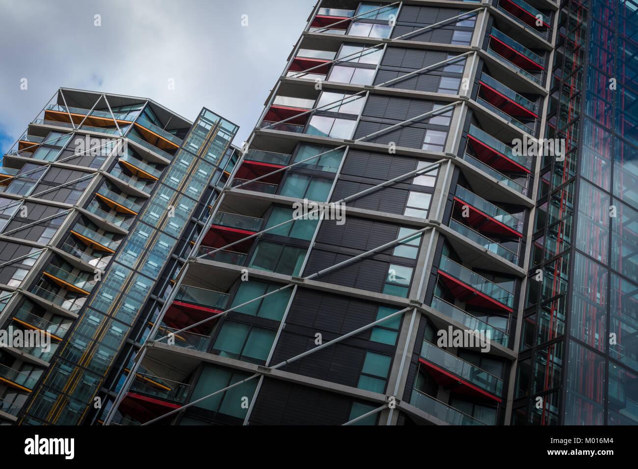 Riverlight, a new development on the River Thames in Nine Elms, London, United Kingdom - Stock Image