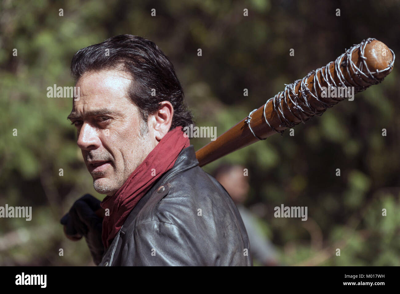The seventh season of The Walking Dead, an American post-apocalyptic horror television series on AMC, premiered - Stock Image