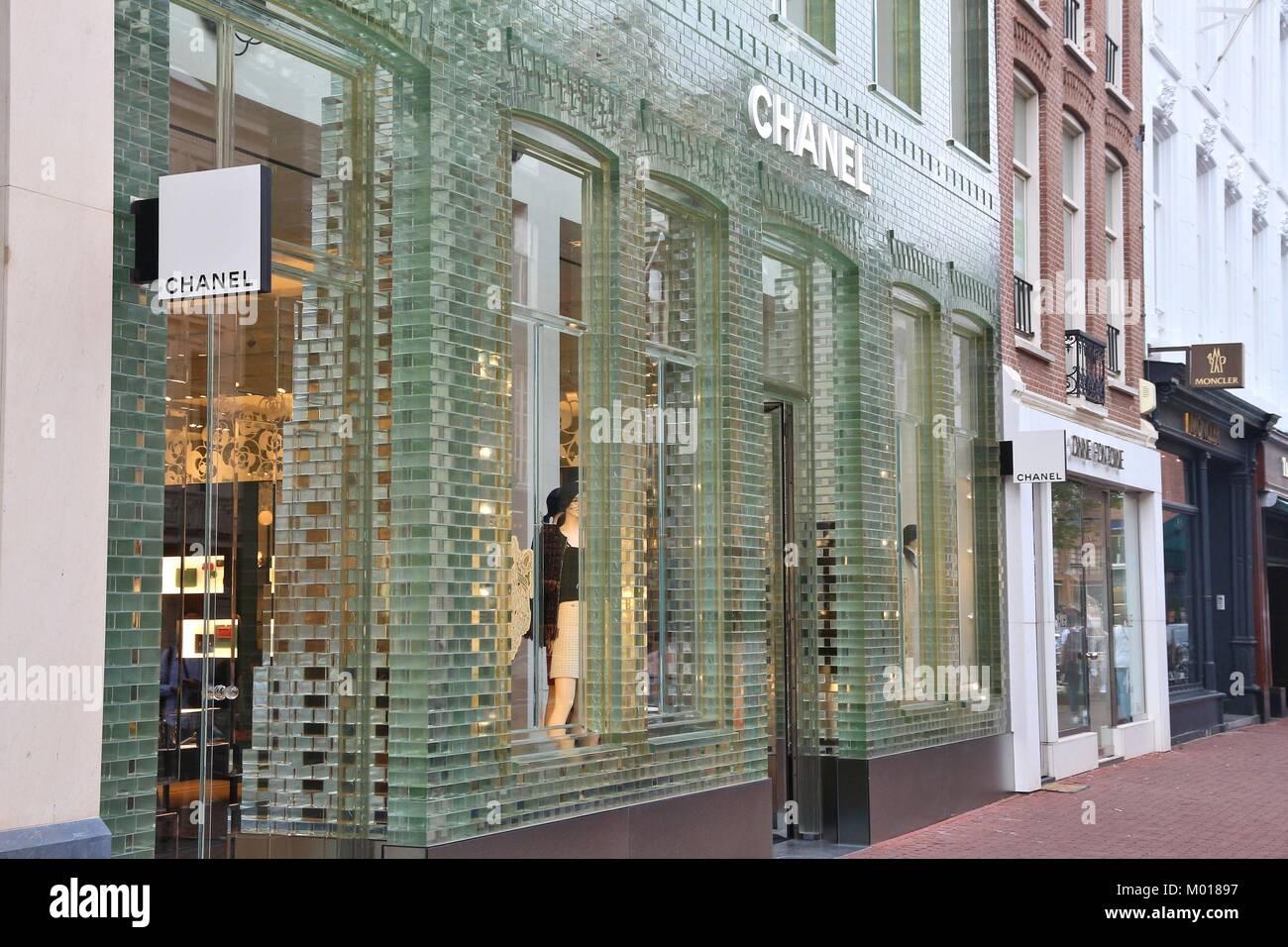 b0fda1c26c9 AMSTERDAM, NETHERLANDS - JULY 10, 2017: Chanel fashion shop at P.C ...