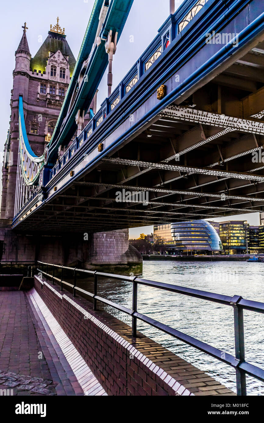 Tower Bridge, River Thames, London. Stock Photo