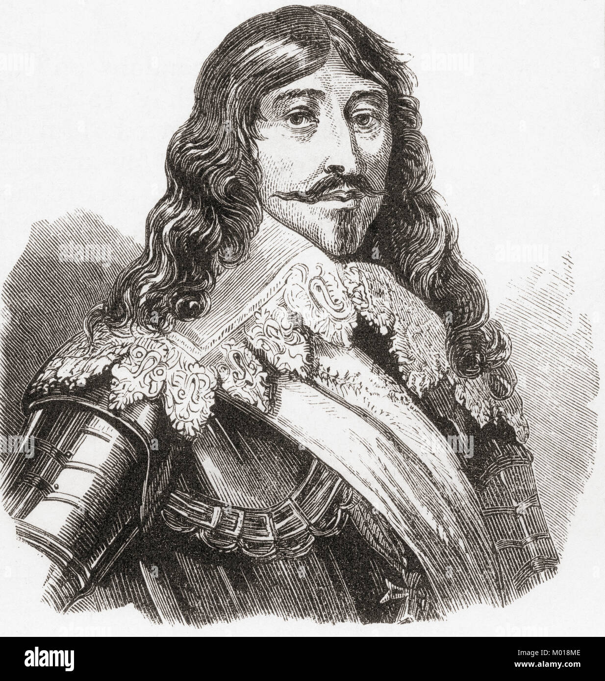 Louis XIII, 1601 – 1643.   King of France from 1610 to 1643 and King of Navarre (as Louis II) from 1610 to 1620. Stock Photo