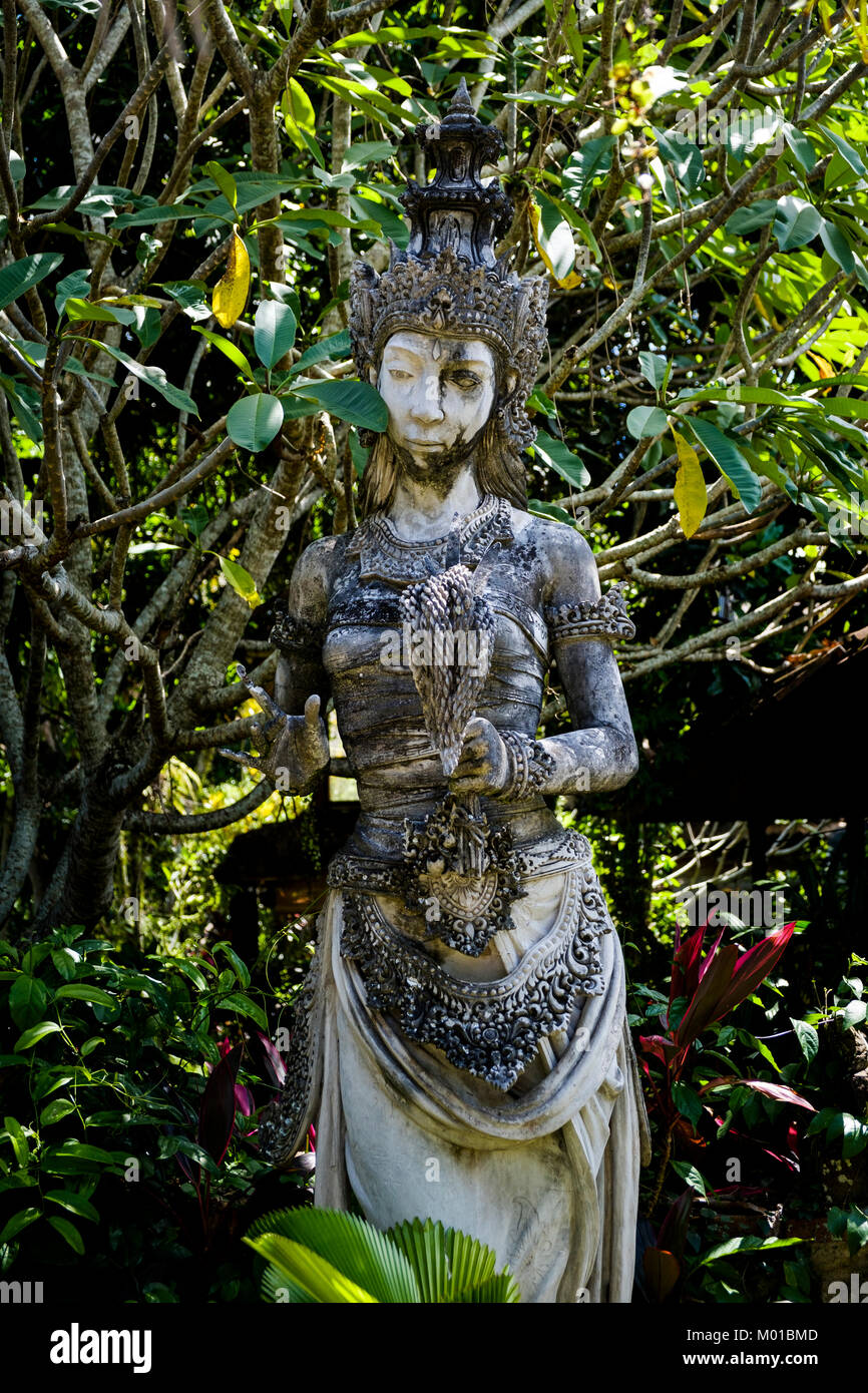 Statue of Dewi Sri (or Shridevi), goddess of rice and fertility, Ubud, Bali, Indonesia. - Stock Image