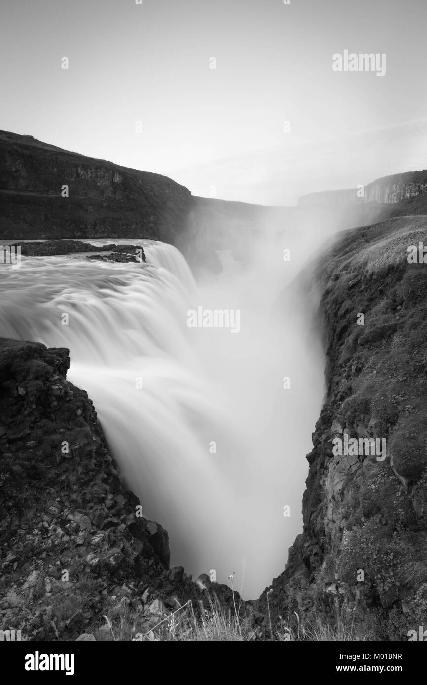 Detail of Gullfoss waterfall in Iceland. - Stock Image