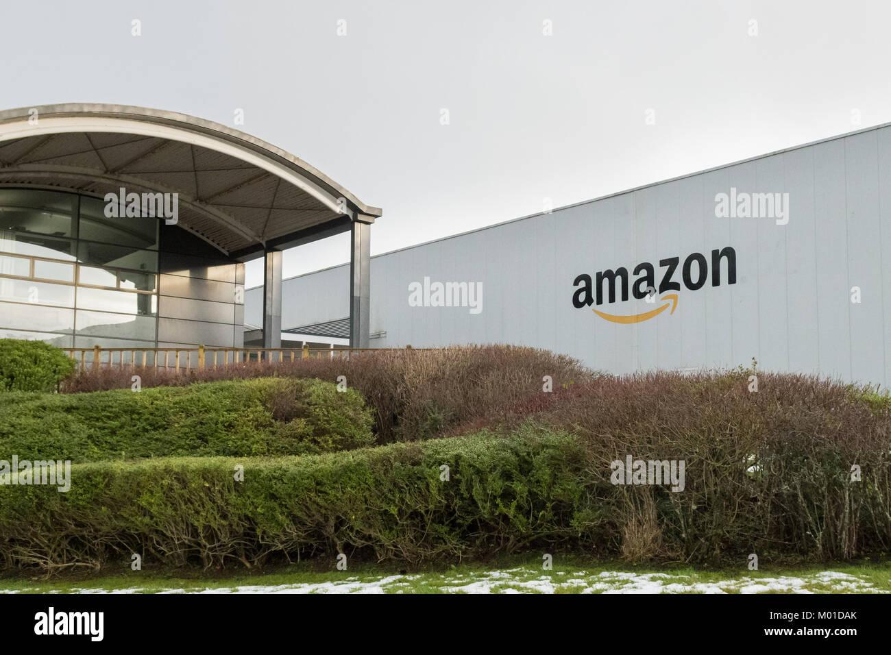 Amazon warehouse at Gourock Greenock, Inverclyde, Scotland, UK - Stock Image