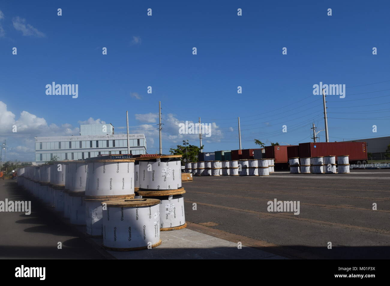 System Critical Stock Photos Images Alamy High Voltage Yard Training Simulator Hundreds Of Massive Coils Heavy Tension Wire Arrive At The Lay Down