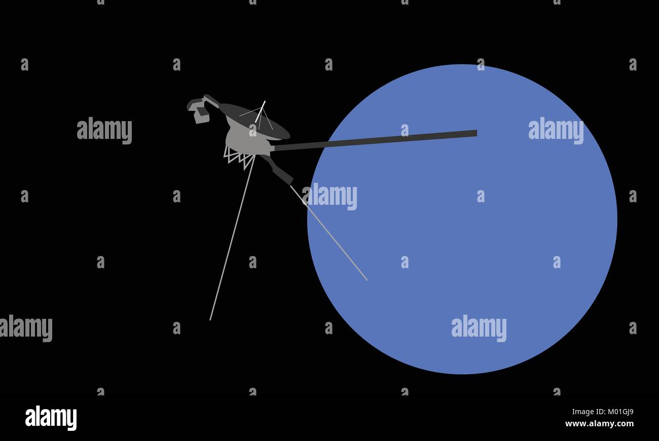 voyager satellite - Stock Vector