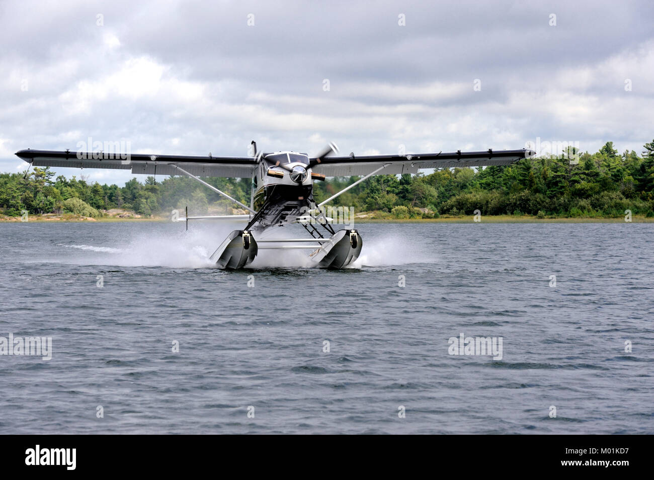The de Havilland turbo beaver is an updated version of of the DHC-2 which has been a work horse in the Canadian Stock Photo