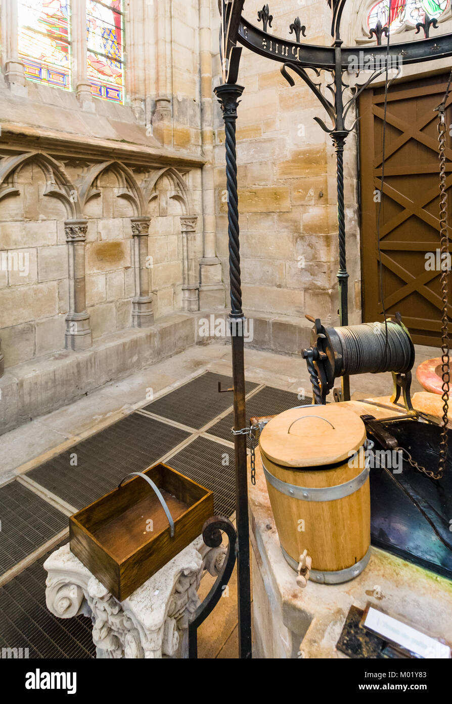 L'EPINE, FRANCE - JUNE 29, 2010: well indoor of Basilica of Our Lady of the Thorn in village of L'Epine. - Stock Image