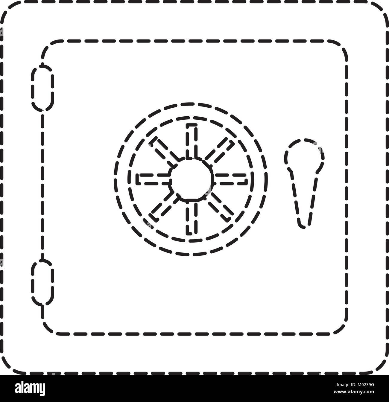 safe vector illustration - Stock Image