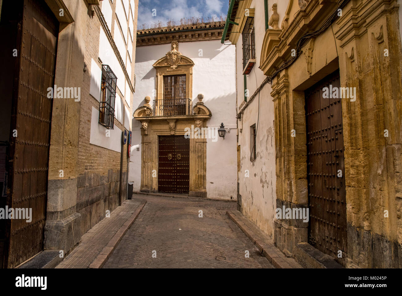 CORDOBA, ANDALUSIA / SPAIN - OCTOBER 14 2017: OLD CITY STREET Stock Photo