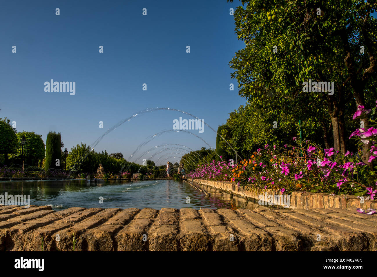 CORDOBA, ANDALUSIA / SPAIN - OCTOBER 14 2017:  FOUNTAINS IN THE PARK Stock Photo