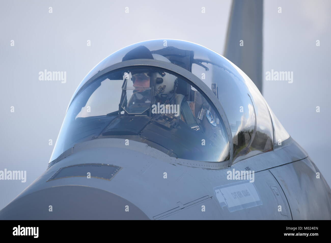 F-15C Eagle fighter jet from California Air National Guard. - Stock Image