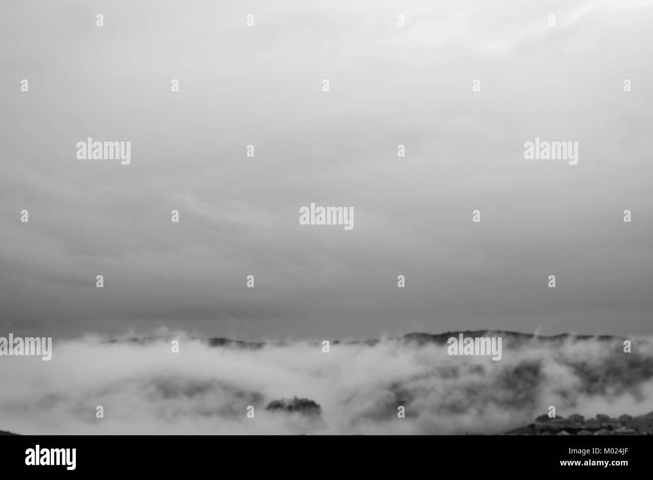Dublin Fog Ireland - Stock Image