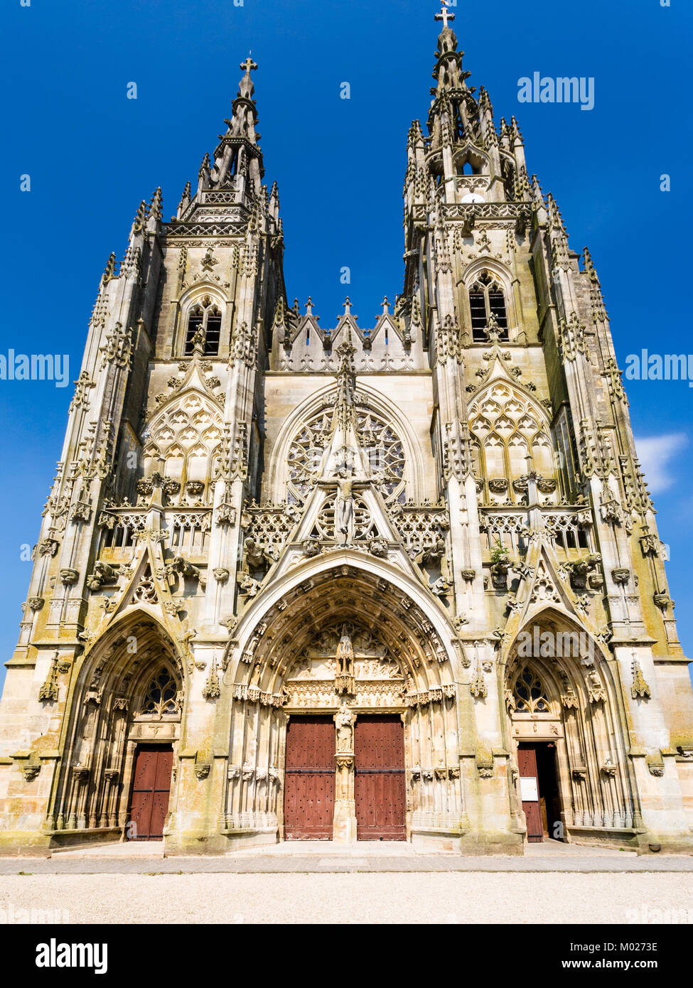 Travel to France - Basilique Notre-Dame de l'Epine (Basilica of Our Lady of the Thorn) in commune of L'Epine, - Stock Image