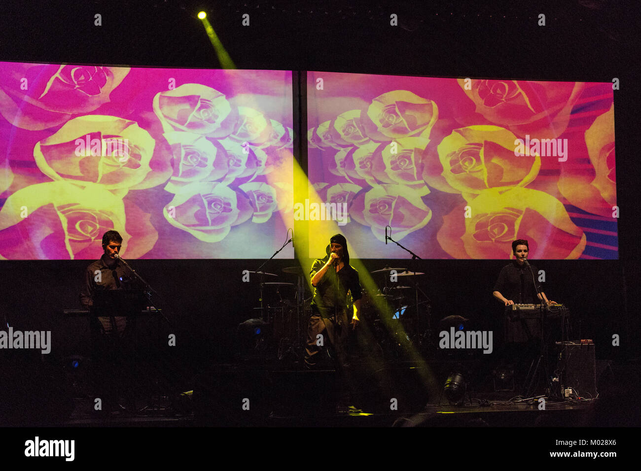 The Slovenian avant-garde band Laibach performs a live concert at Sentrum Scene in Oslo. Norway, 13/09 2014. - Stock Image