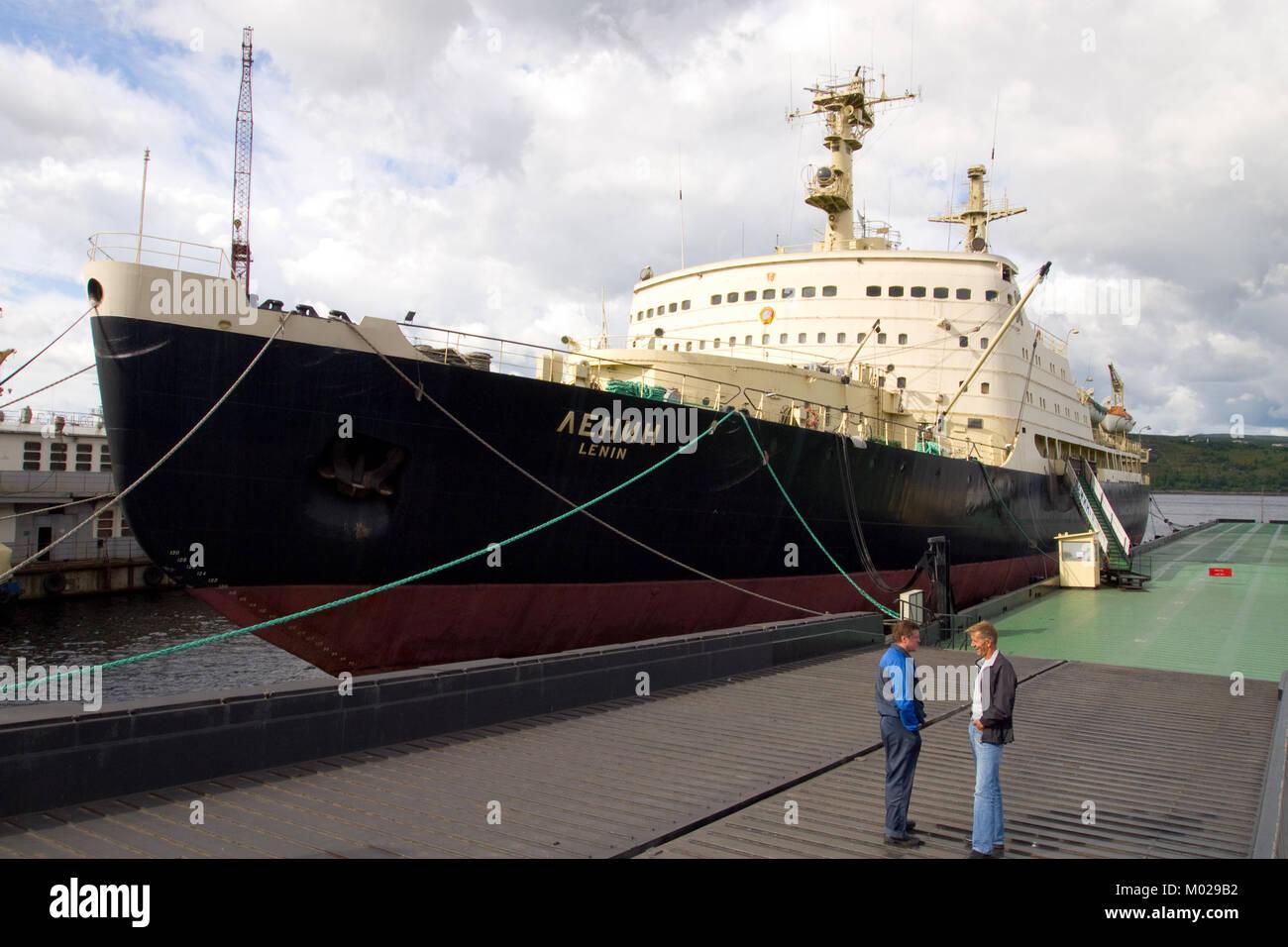 Murmansk, Russia - June 26, 2010: Icebreaker 'Lenin' - Stock Image