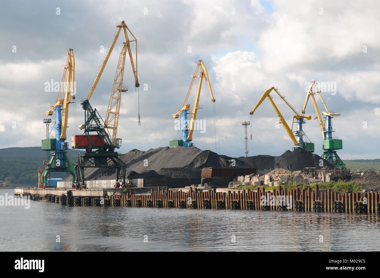 Cargo terminal port Murmansk - Stock Image