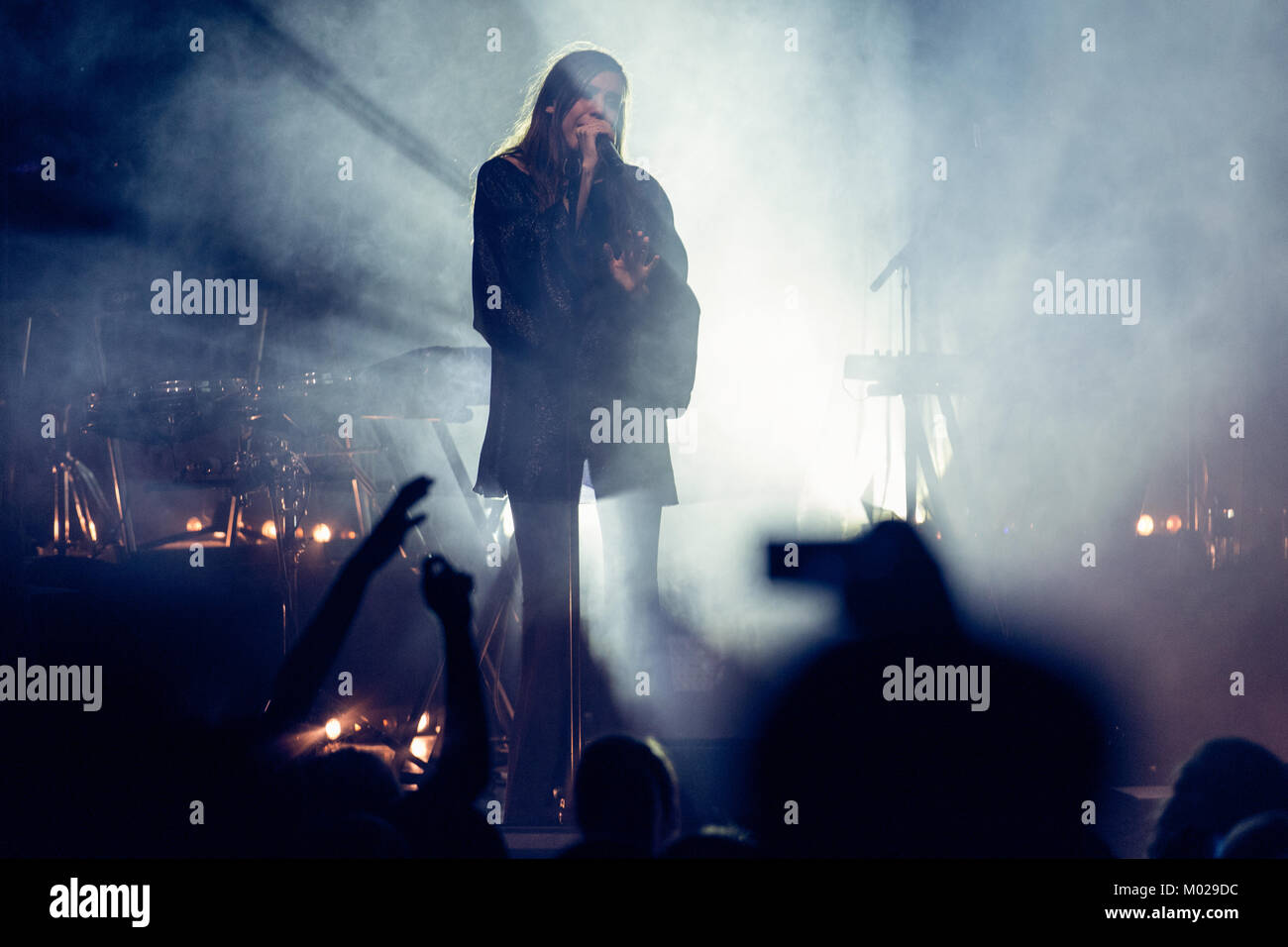 The Swedish singer-songwriter and musician Lykke Li performs a live concert at Sentrum Scene in Oslo. Norway, 08/12 - Stock Image