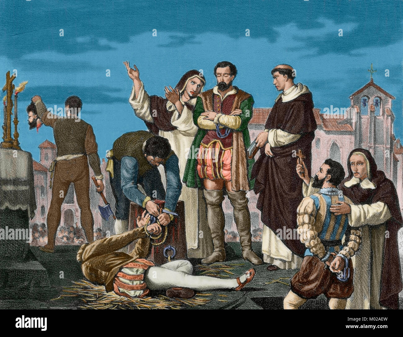 The Revolt of the Comuneros or War of the Communities of Castile, 1520-1521. Uprising by citizens of Castile against - Stock Image