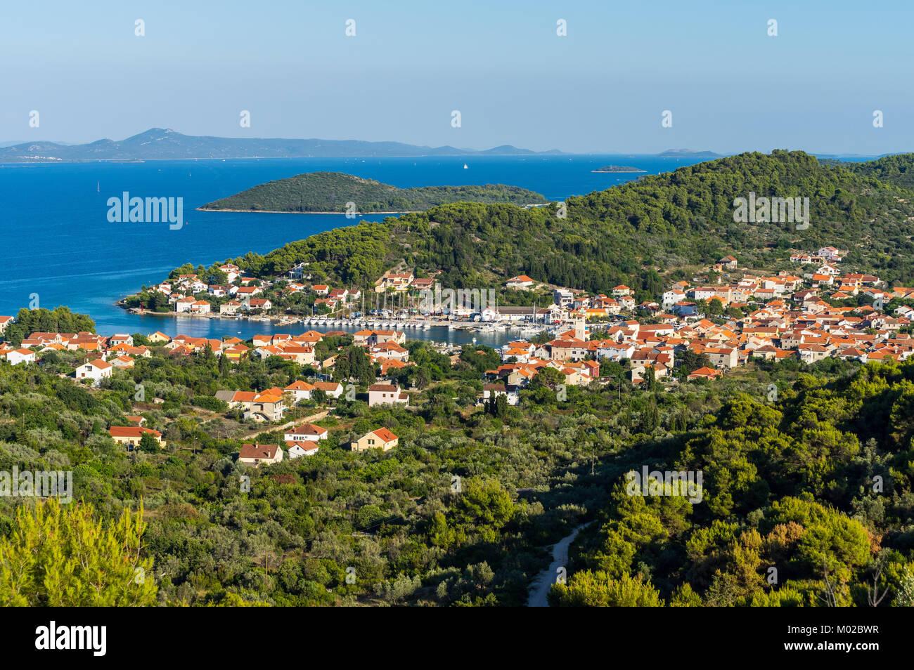 Summer on Island Iz, Croatia - Stock Image