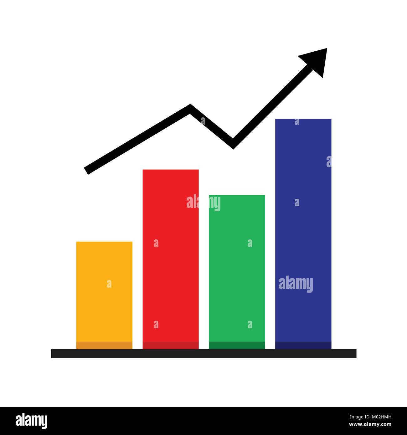 Business Market Chart Vector Illustration Graphic - Stock Image