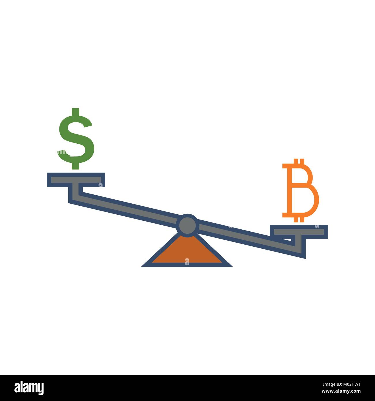 Simple Bitcoin Investment Rate Vector Illustration Graphic - Stock Image