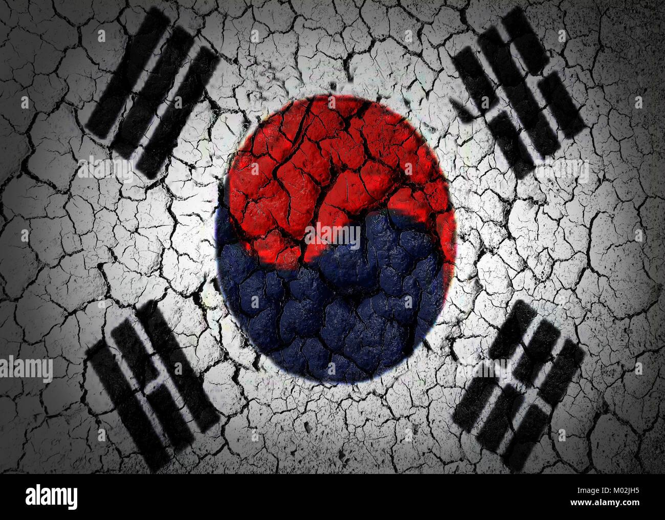South Korea Flag - Stock Image